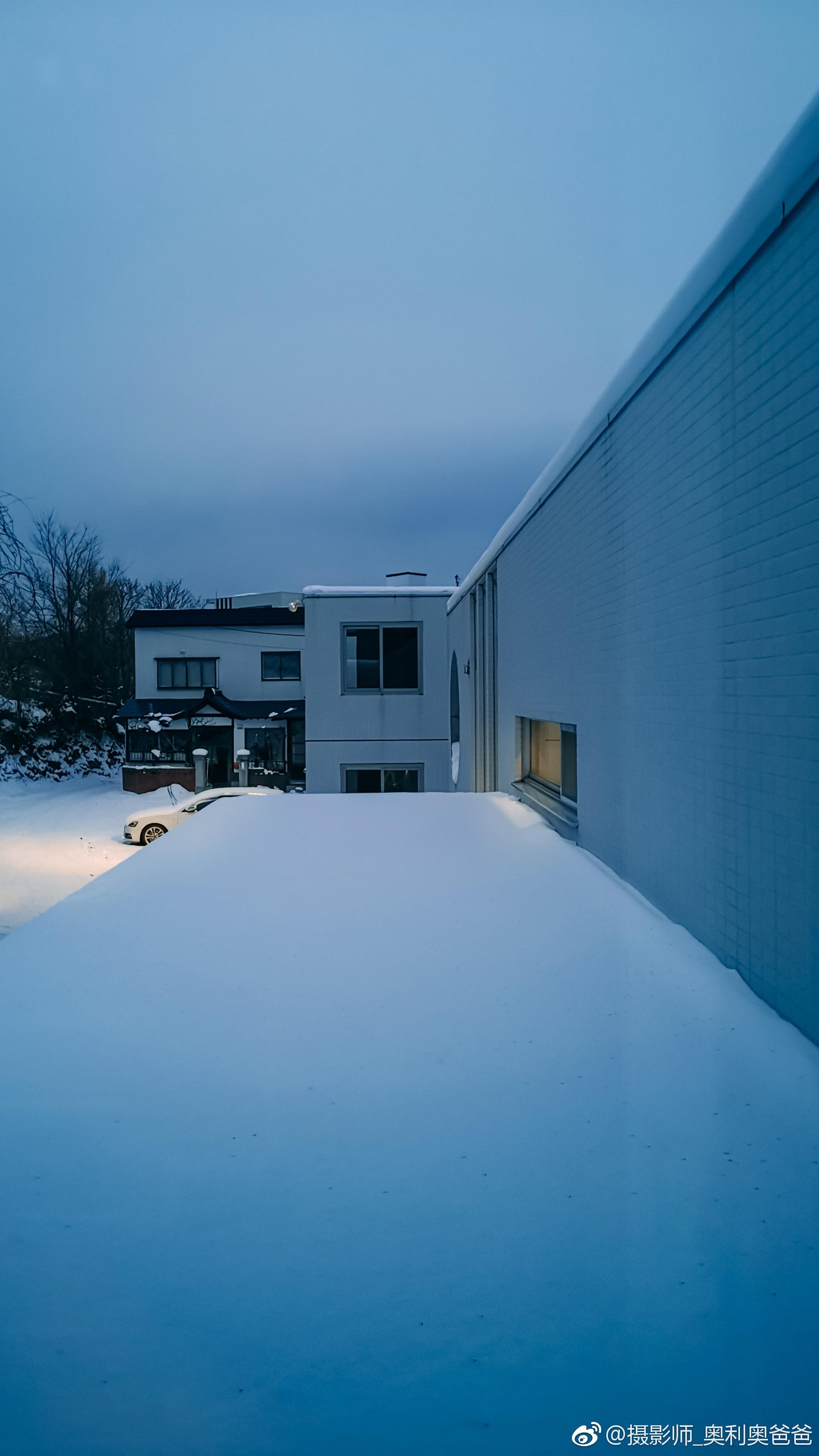 雪国的雪 北海道小樽的九图壁纸 Photo By Mate 20 Pro