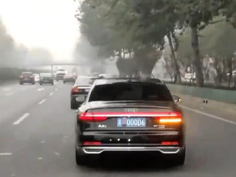 北京偶遇新款奥迪A8L,网友:一看车牌号就知道车主不简单!-新浪汽车