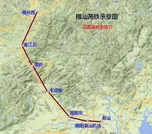 《广东超全高铁线路地图》曝光!从深圳出发,直达20个市!