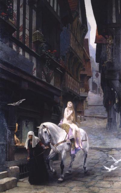 马背上的裸女,高贵美艳,背后的故事感人至深!
