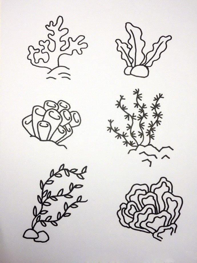 簡筆畫超萌海洋生物合輯圖片