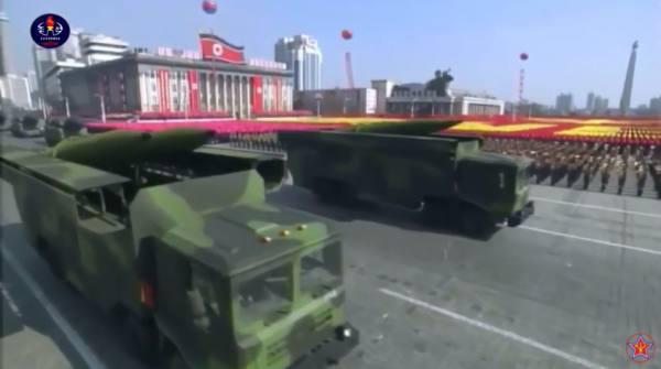 该导弹曾在朝鲜建军节70周年阅兵式上展示。