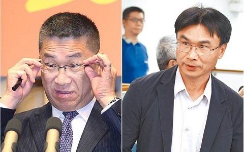 """左为台当局""""内政部长""""徐国勇、右为台当局""""农委会主委""""陈吉仲。(图片来自台媒)"""