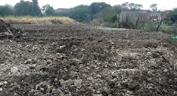 简单覆土封场,无防雨、防渗漏设施。