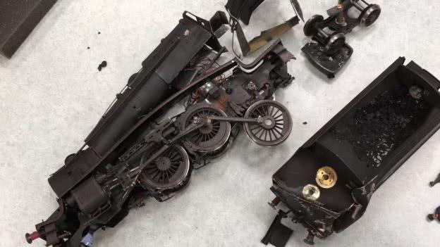 价值不菲的火车模型部件