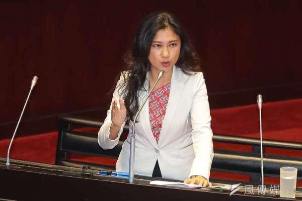 台当局发言人谷辣斯·尤达卡(图源:风传媒)