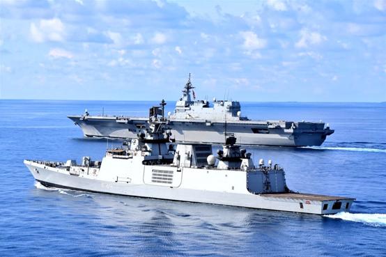 5月23日-24日,印度海军和日本海上自卫队在安达曼海进走了一次说相符操练。