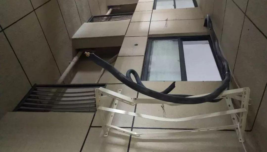 砸坏的空调外机支架掌上温州客户端 图