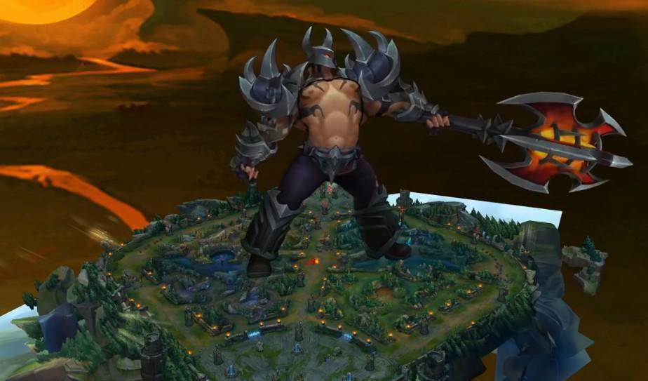 LOL玩家玩铁男无限变大,看到峡谷另一端,是提莫在支撑?