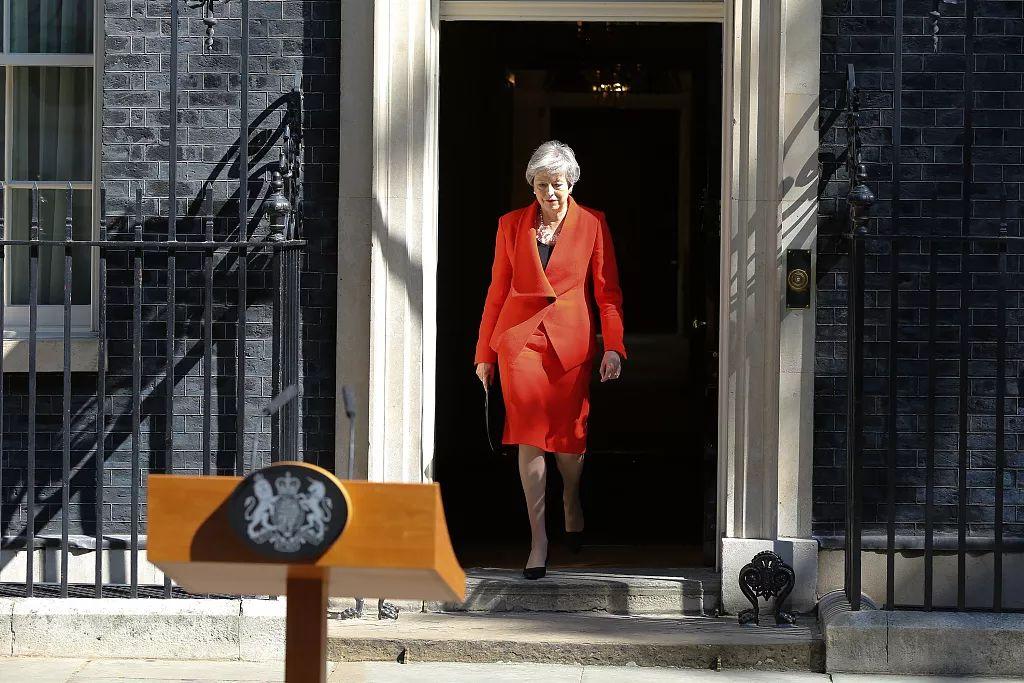 当地时间5月24日,英国首相特蕾莎·梅宣布将于6月7日辞职。/视觉中国