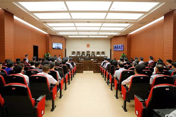 庭审现场宁波市中级人民法院微信公多号 图