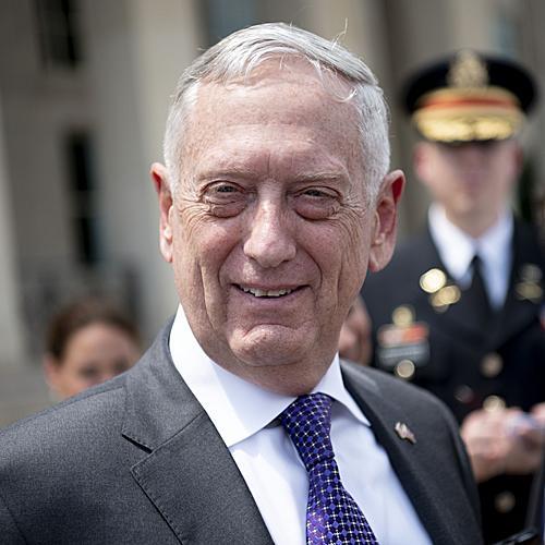 资料图片:美国前国防部长马蒂斯(新华社)