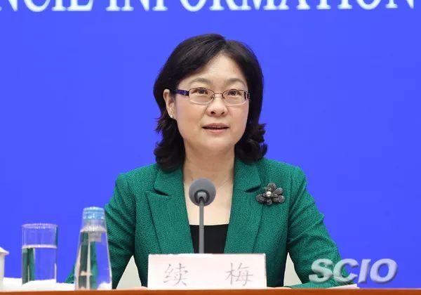 教育部新闻发言人、新闻办主任续梅(张馨 摄)