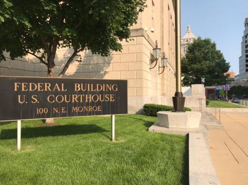 伊州皮奥里亚市法庭。(图片来源:美国《世界日报。》特派员黄惠玲╱摄影)