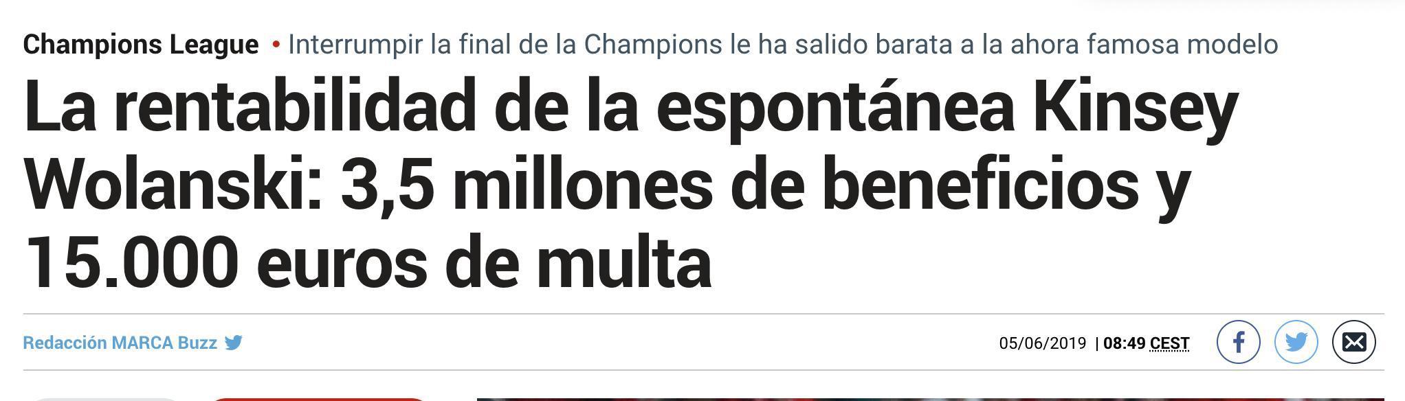 仅1.5万欧!闯欧冠决赛女球迷被罚款 她男友网站却获利三百万