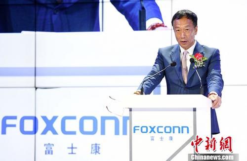 资料图为台湾鸿海集团总裁郭台铭。中新社记者 陈文 摄