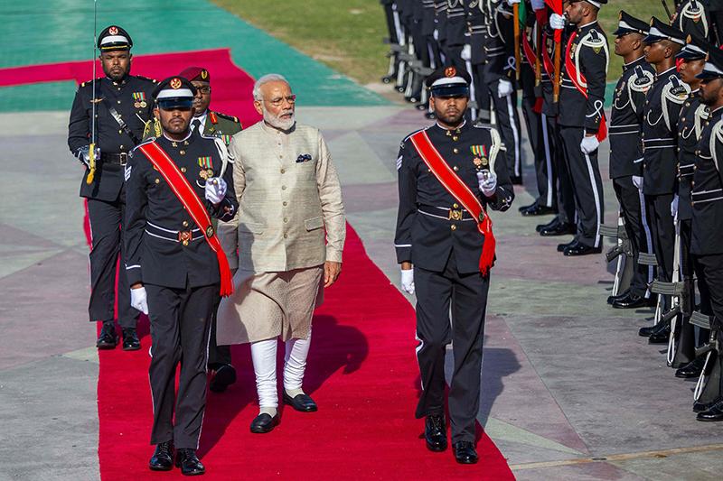当地时间2019年6月8日,马尔代夫马累,印度总理莫迪访问马尔代夫。 视觉中国 图