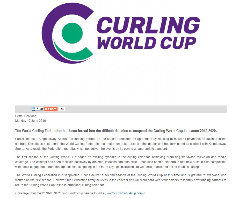 違約致冰壺世界杯停擺,金達威體育到底是個啥公司?