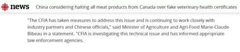 截图来自加拿大广播公司新闻网的报道