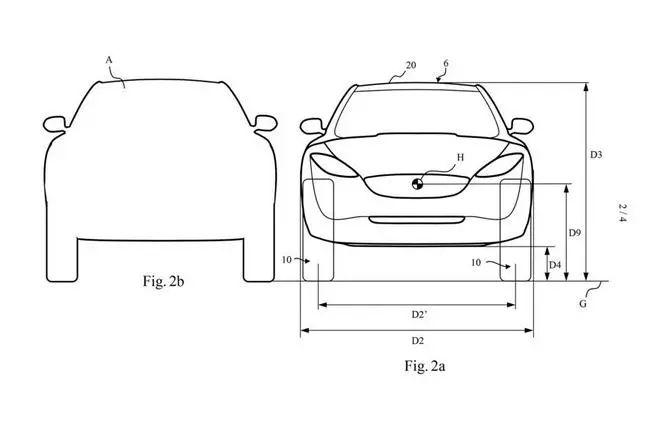 媒体曝光的戴森电动车专利图