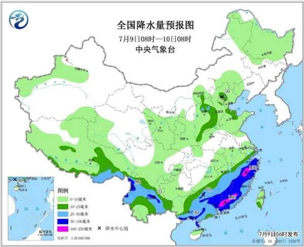 """廣東福建加入強降雨""""戰隊"""" 8省區有暴雨大暴雨"""
