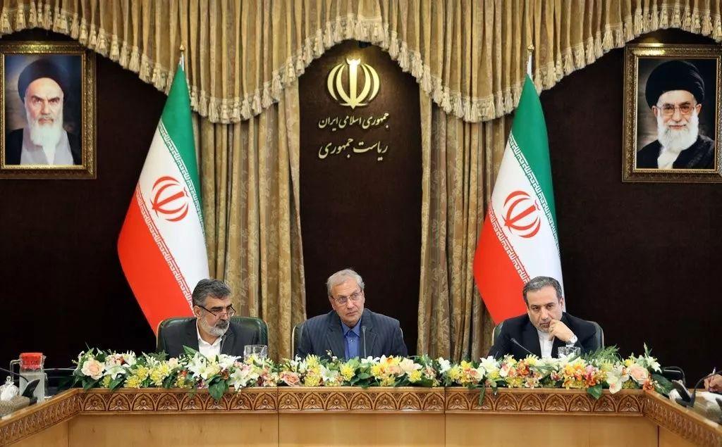伊朗政府7日在德黑兰举行新闻发布会,宣布将突破伊核协议对浓缩铀丰度的限制