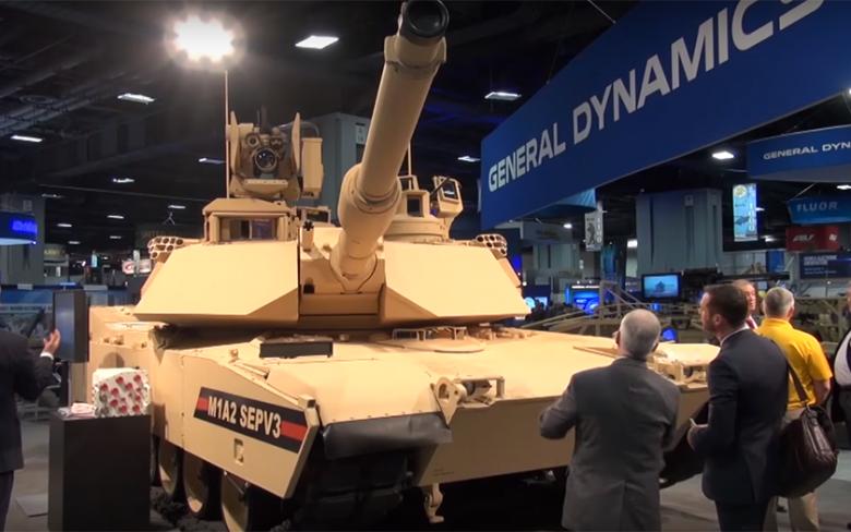 通用动力陆地系统会展展示M1A2主战坦克 资料图
