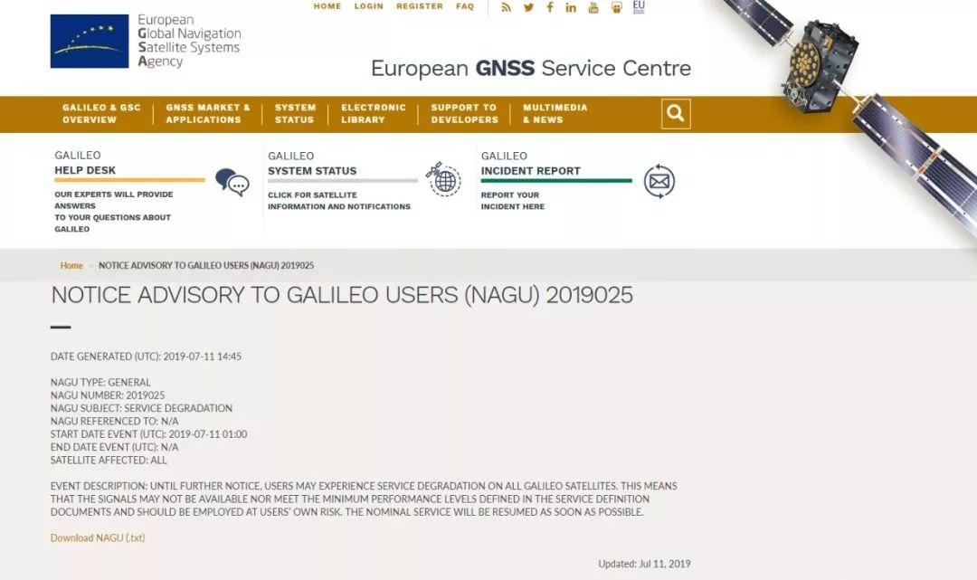 """欧盟伽利略卫星导航系?#22330;?#25346;""""了"""