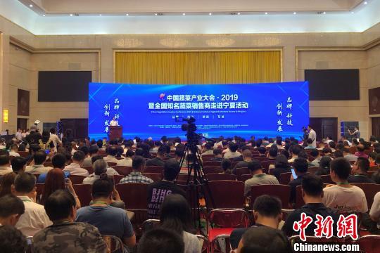 2019年中国蔬菜产业大会现场。 李佩珊 摄