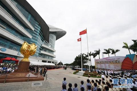 5月4日拍摄的升旗仪式现场。新华社记者 吕小炜 摄