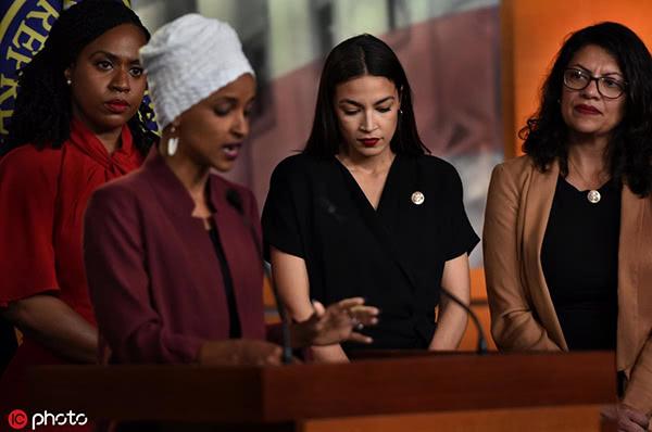 遭到特朗普攻打的四名女议员 @IC Photo