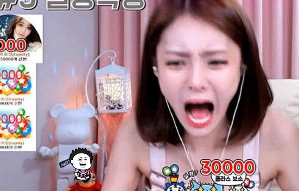 """韩国女主播直播间痛哭,""""土豪""""打赏14万,网友:没见过世面"""
