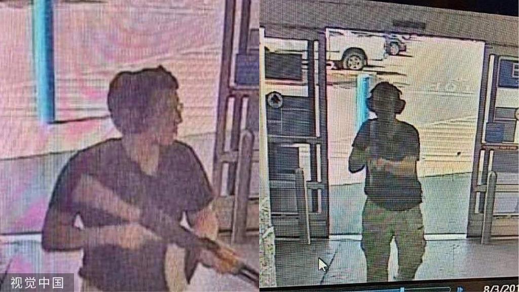 21岁的枪手帕特里克·伍德·克鲁修斯持枪进入得州一商场。图源:视觉中国