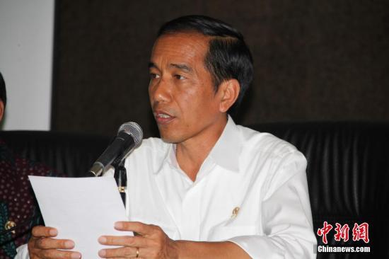 原料图:印尼总统佐科。中新社发 顾时宏 摄