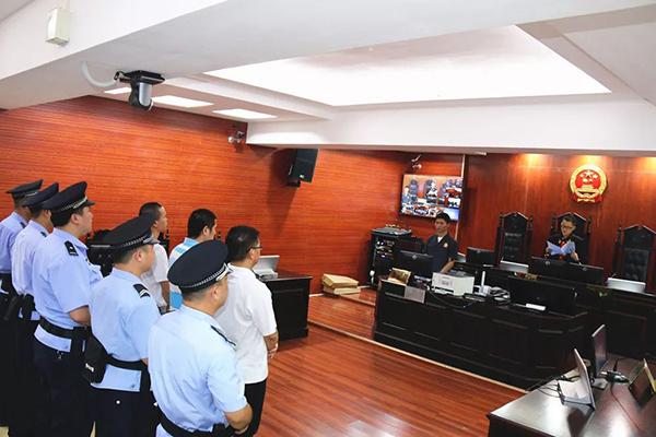庭审现场。本文图片广西高院微信公号
