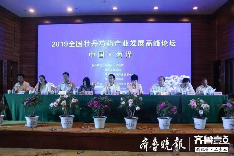 2019全国牡丹芍药产业发展高峰论坛在菏泽召开