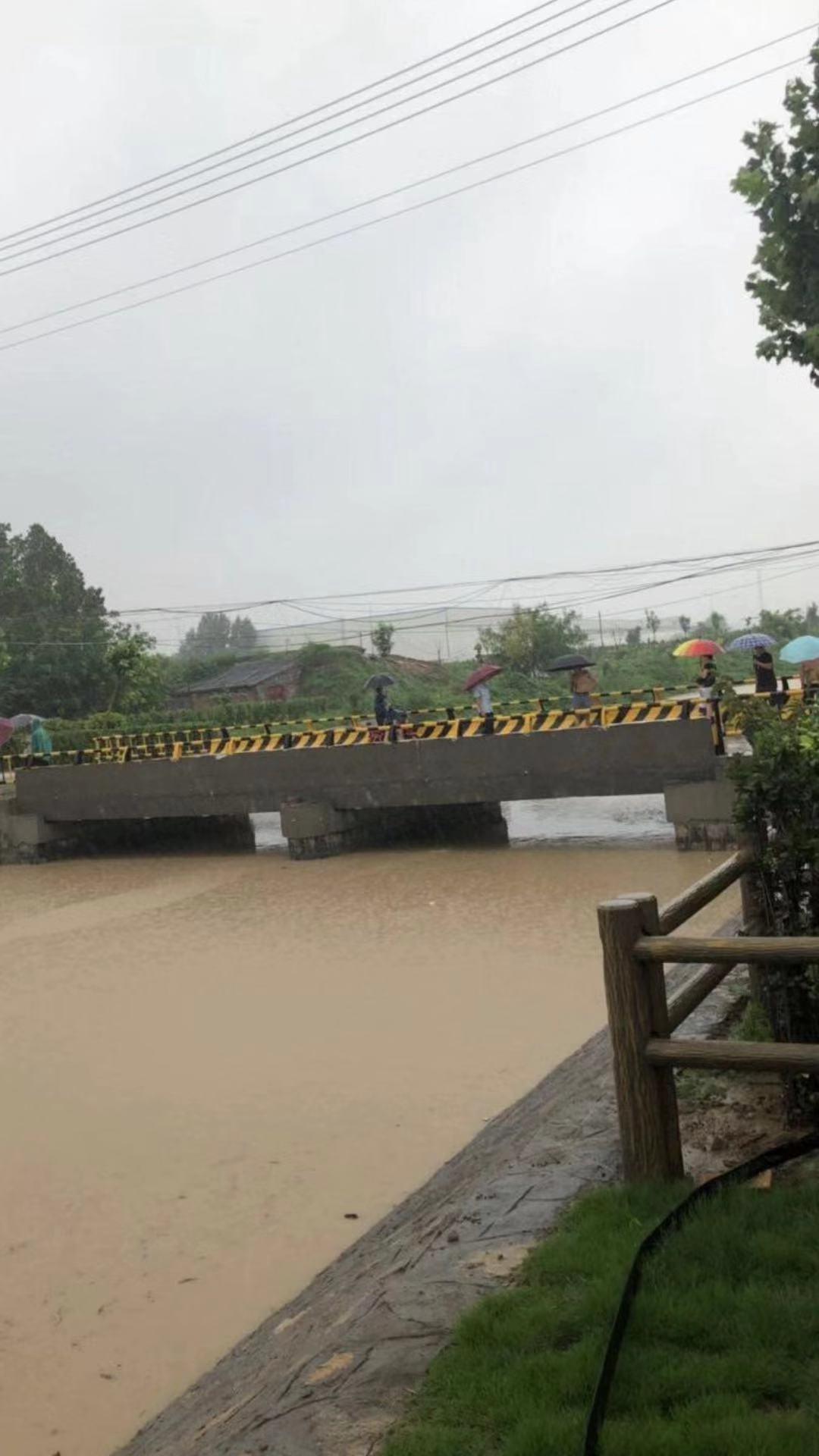 寿光市李家屯镇目前仍在下雨。受访者供图