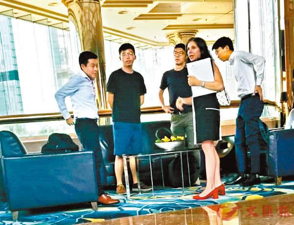 羅冠聰(左三)與美國駐港領事見面,圖源:文匯報