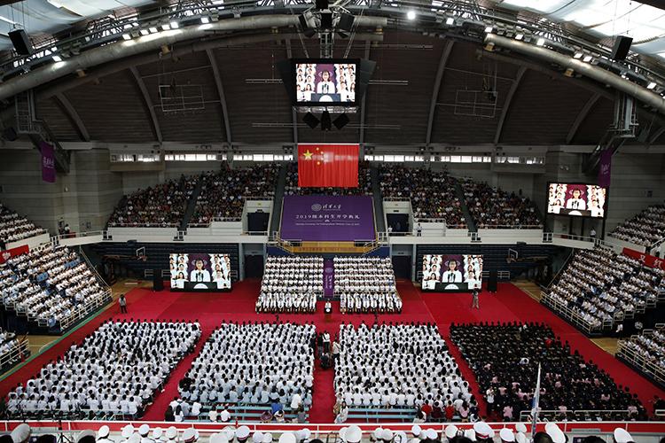 加油青春!清华大学举行2019级新生开学典礼