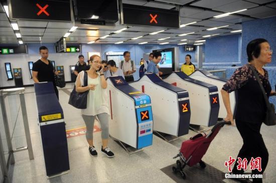 资料图:港铁。中新社记者 谭达明 摄