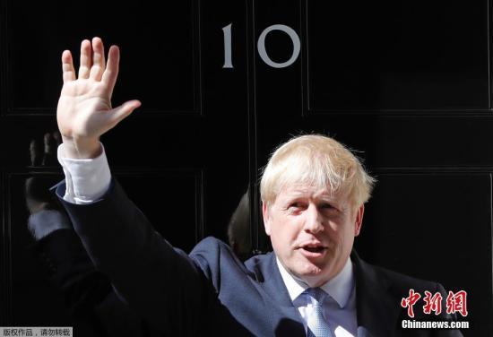 資料圖:英國首相約翰遜。