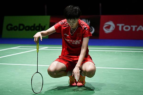 2019瑞士羽毛球世锦赛女单半决赛:辛杜2-0陈雨菲。本文图片 视觉中国