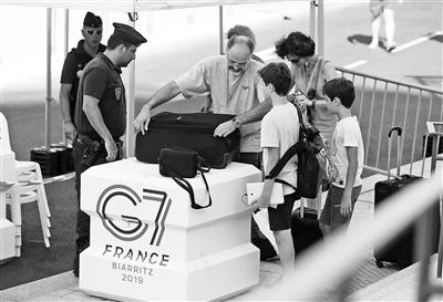 法国小城比亚里茨加强警戒迎G7峰会 摄影/新华社记者 高静