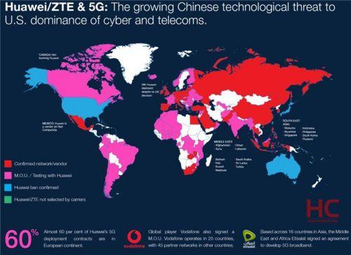 華為5G設備全球分布圖曝光,華為密切關注歐盟未來的5G框架