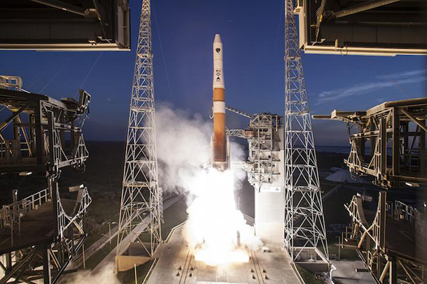 """8月22日,""""德尔塔""""-4M+火箭发射了一颗GPS-3导航卫星,这是该火箭最后一次执行发射任务"""