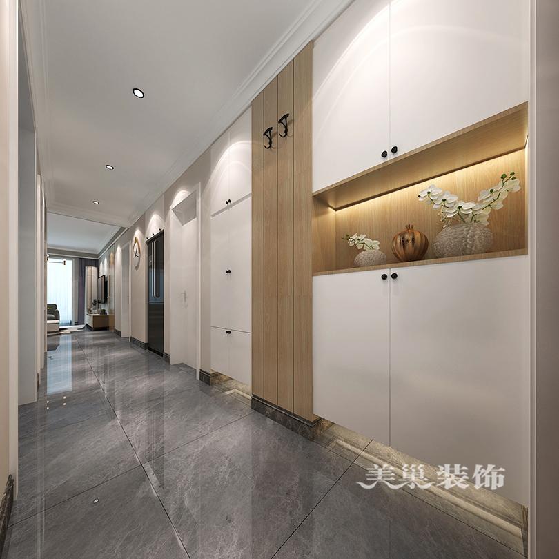 郑州春风十里装修效果图 103平三室跟随潮流的莫兰迪色系