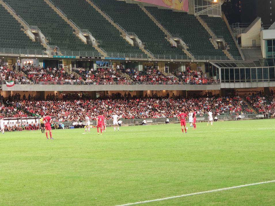 世界杯亚洲区预选赛香港对伊朗的比赛10日晚上举行。(摄/崔天也)