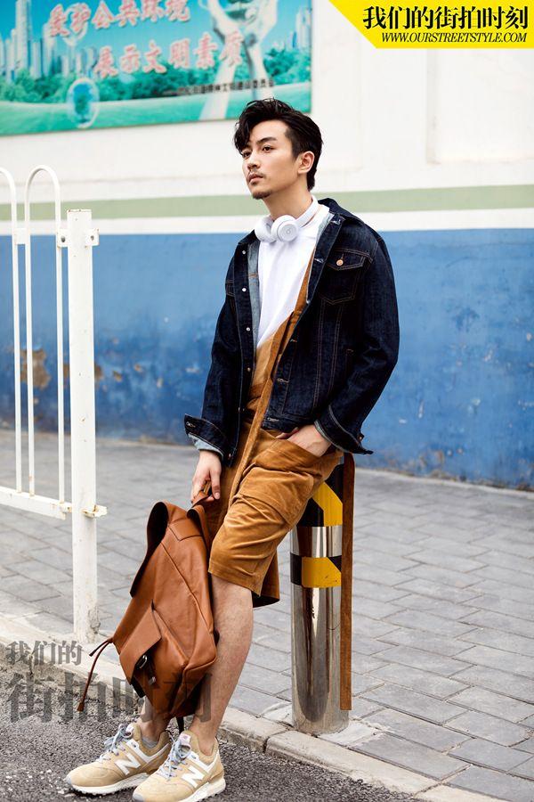 陈晓,休闲时髦范十足,行走如画,解锁初秋时尚尽显潮流男孩范