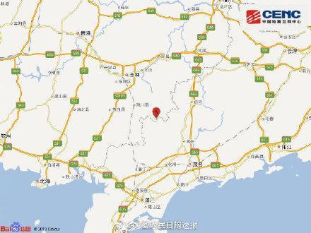 �<医馕�V西玉林5.2�地震:再�l��震可能性不大