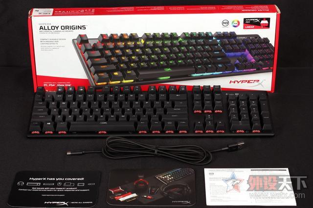 HyperX自主高性能軸體——Origins起源RGB游戲機械鍵盤開箱體驗